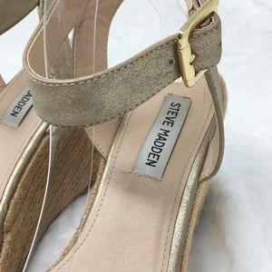 Steve Madden Shoes - Steve Madden Metallic Gold Seaside Wedge Sandals